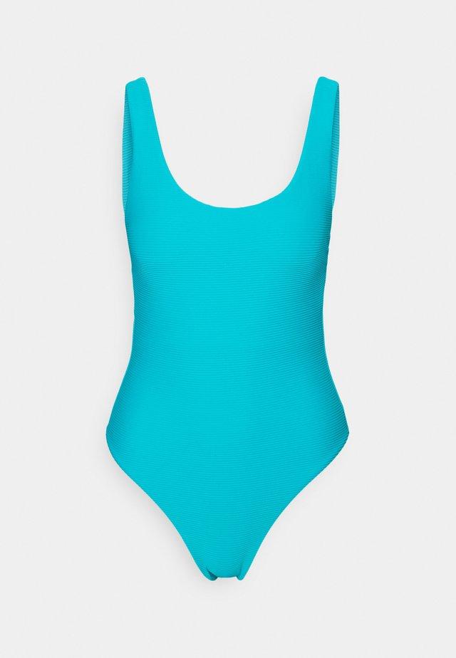 ESSENTIALS RETRO TANK MAILLOT - Swimsuit - scubablue