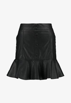 OLIVIA FLIPPY SNAP MINI - Minisukně - black