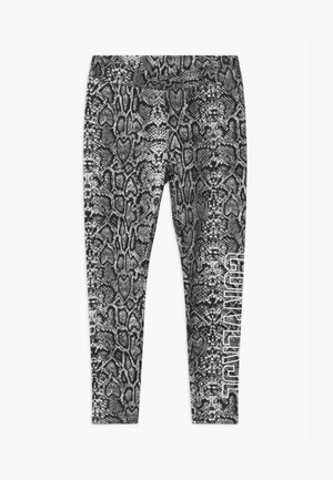 PYTHON PRINT HIGH RISE - Leggings - Trousers - pure platinum