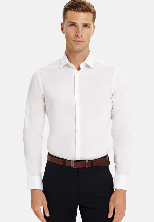 FITTED LYCRA STRETCH - Shirt - white
