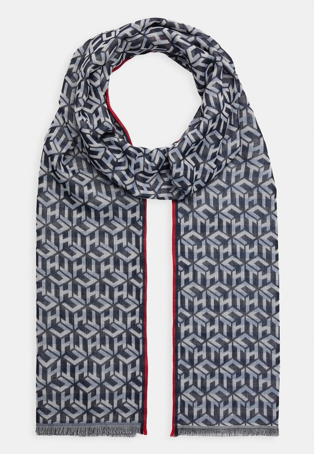 MONOGRAM LIGHT SCARF - Scarf - blue