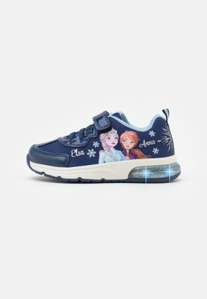 Disney Frozen Elsa Anna GEOX JUNIOR SPACECLUB GIRL - Tenisky - navy/sky