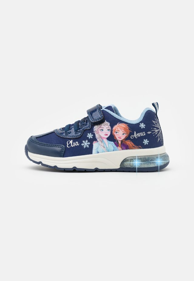 Disney Frozen Elsa Anna GEOX JUNIOR SPACECLUB GIRL - Trainers - navy/sky
