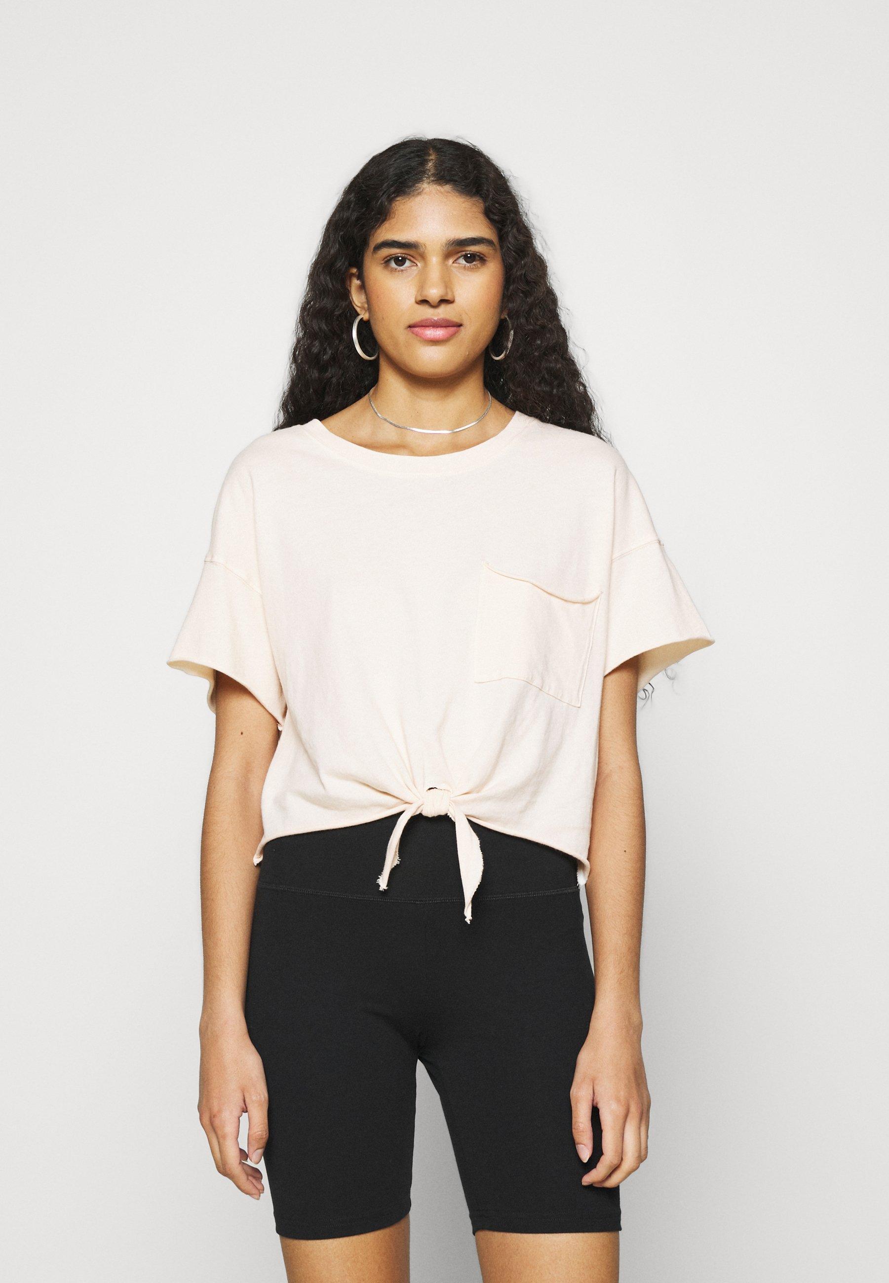Women TIE FRONT TEE - Print T-shirt