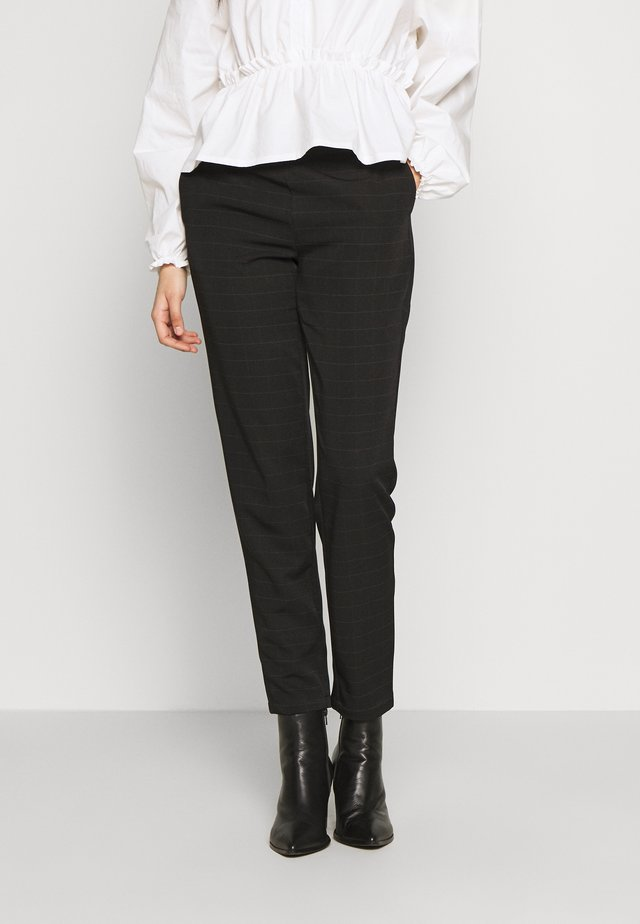 VMIMALUMAYA ANKLE PANT TALL - Pantaloni - black/snow white