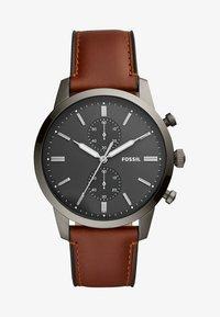 Fossil - TOWNSMAN - Chronograph watch - braun - 1
