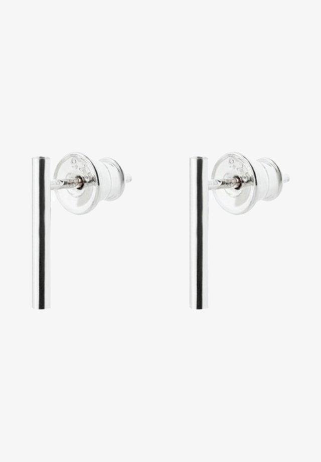 SHORT PIPE EARRINGS - Earrings - silver