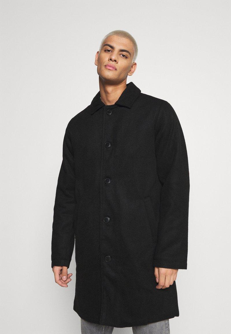 Denim Project - COAT - Klasický kabát - black