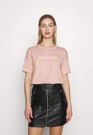 ONLMETALLICA LIFE BOX - Print T-shirt - misty rose