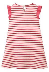 Boden - MIT FLATTERÄRMELN UND APPLIKATION - Jersey dress - naturweiß/rockabilly-rot, einhorn - 1