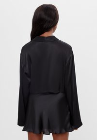 Bershka - Button-down blouse - black - 2
