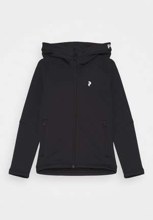 JR RIDER ZIP HOOD UNISEX - Fleecová bunda - black