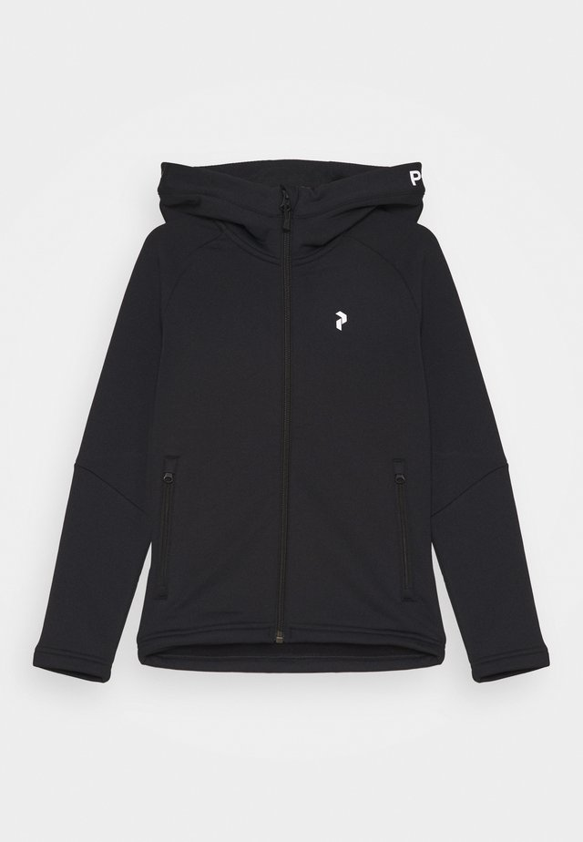 JR RIDER ZIP HOOD UNISEX - Fleece jacket - black