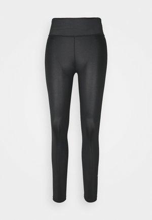 ONE 7/8 FAUX - Leggings - black/smoke grey