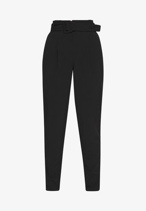 ONLSICA PAPERBAG PANTS - Trousers - black