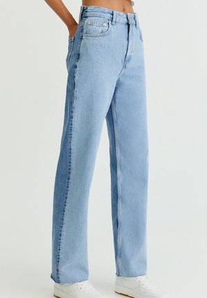 MIT COLOUR BLOCK - Jeans Straight Leg - light blue