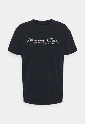 LOGO CON SCRIPT - Print T-shirt - navy