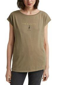 edc by Esprit - Print T-shirt - light khaki - 6