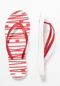Calvin Klein Jeans - DARALYN - Badesko - white/racing red - 3