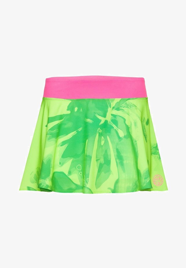 ZINA - Sports skirt - neon green/pink