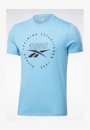 GS TRAINING SPEEDWICK TEE - Print T-shirt - light blue