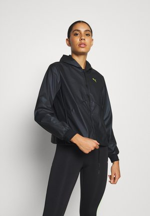 TRAIN WARM UP JACKET - Sportovní bunda - black