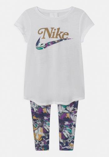 STUDIO FLORAL SET - Print T-shirt - white/multi-coloured
