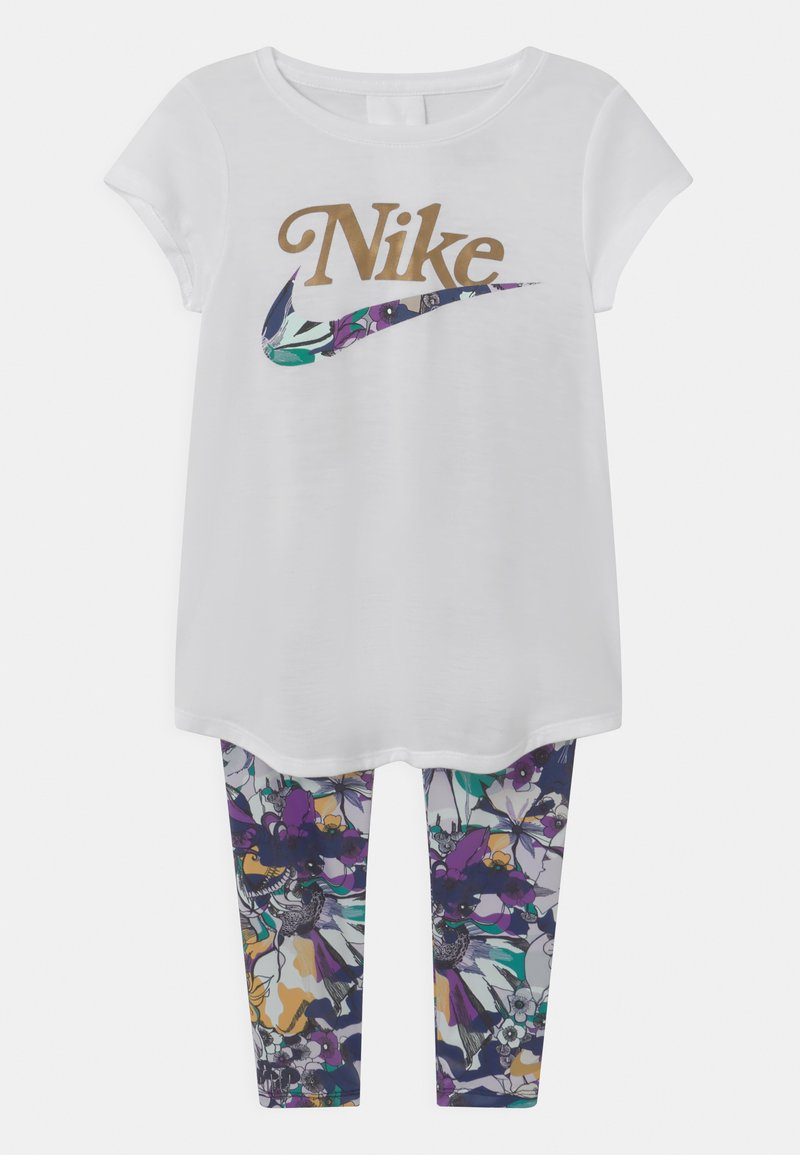 Nike Sportswear - STUDIO FLORAL SET - Print T-shirt - white/multi-coloured