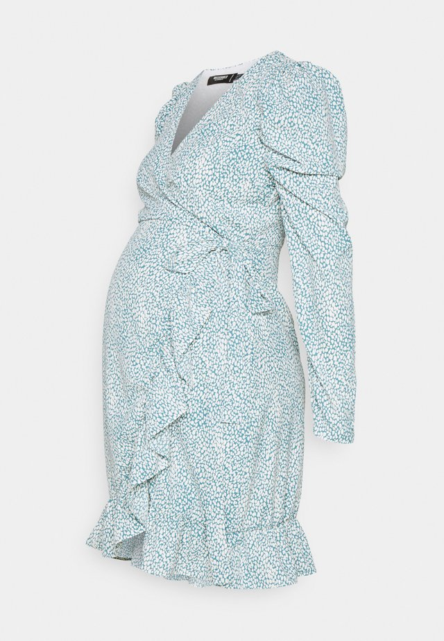 MATERNITY WRAP PLEATED SKIRT DRESS - Robe en jersey - blue