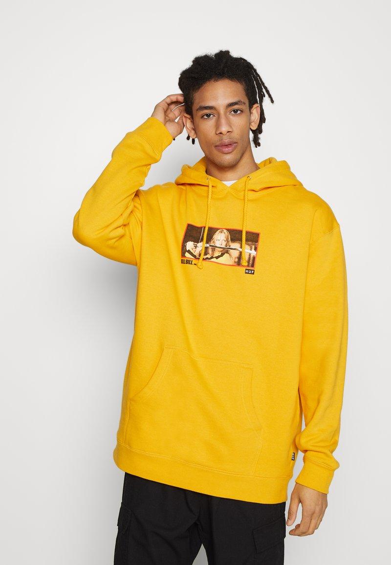 HUF - REVENGE HOODIE - Felpa con cappuccio - yellow