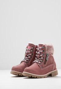 TOM TAILOR - Lace-up ankle boots - rose - 3