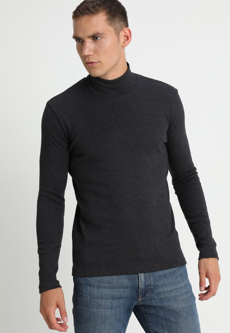 Samsøe Samsøe - MERKUR - Long sleeved top - dark grey melange