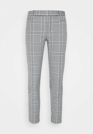 MODERN SLOAN KIKI PLAID - Trousers - black/blanco