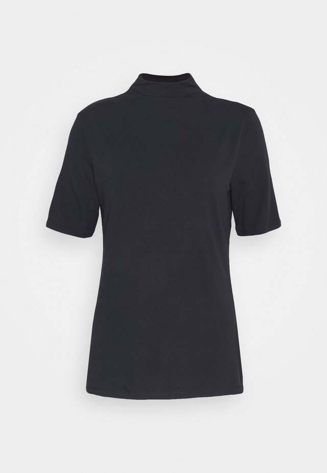 FUNNEL NECK - Basic T-shirt - deep blue