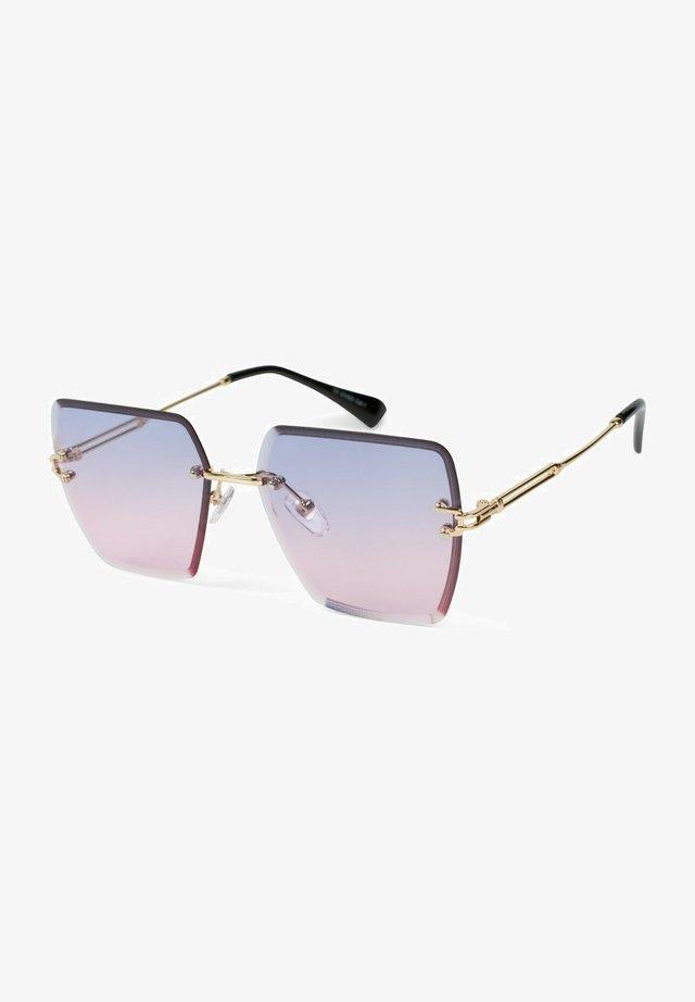 Sunglasses - gestell gold / glas blau-rosa verlauf