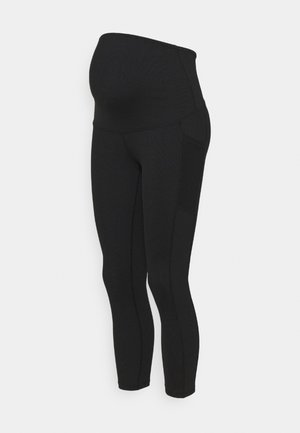 MATERNITY POCKET - Leggings - black