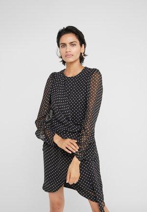 TRUNTE SHORT DRESS - Denní šaty - black/beige