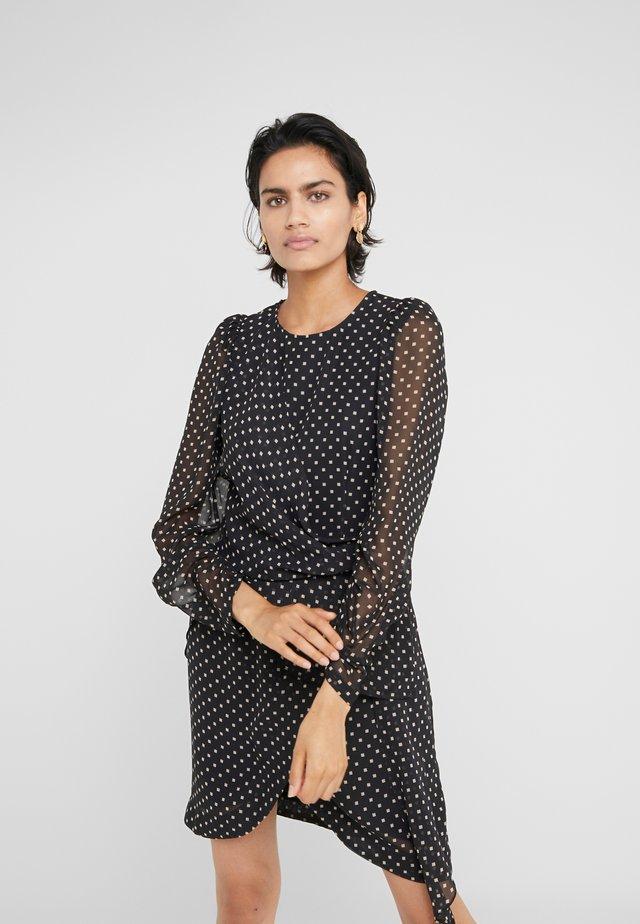 TRUNTE SHORT DRESS - Vapaa-ajan mekko - black/beige
