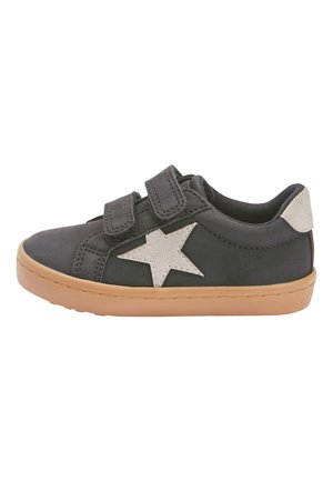 BLACK DOUBLE STRAP STAR  - Sneakers laag - black
