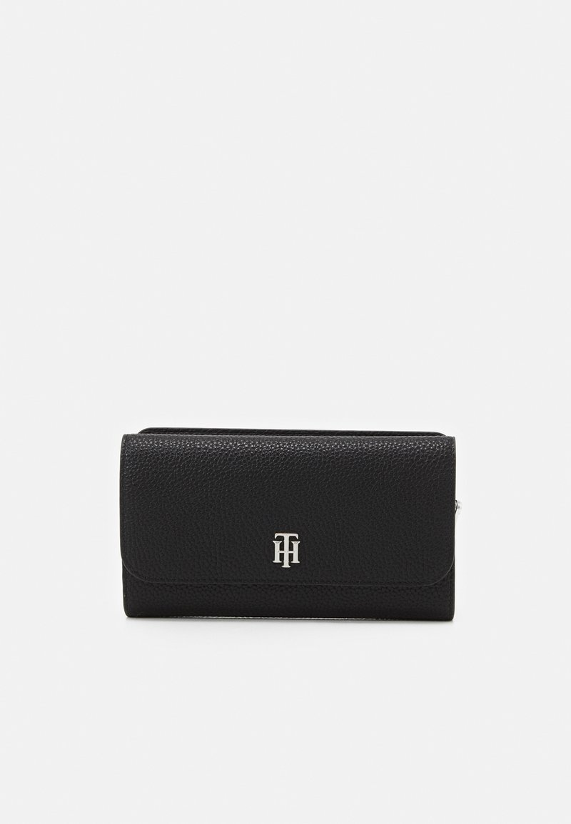 Tommy Hilfiger - ESSENCE FLAP WALLET - Wallet - black