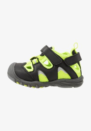 PEPPER - Outdoorsandalen - black/lime