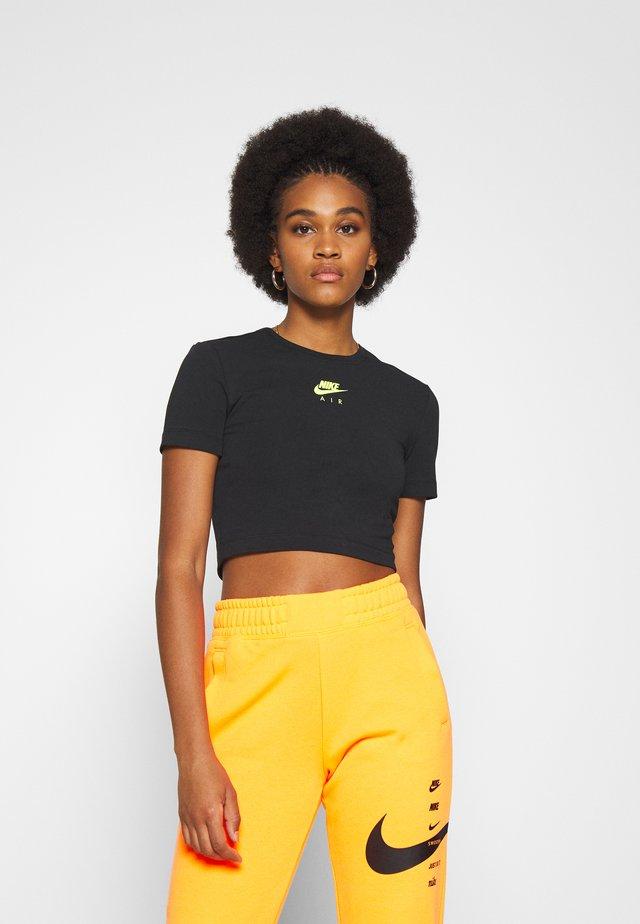 AIR CROP - T-shirt con stampa - black
