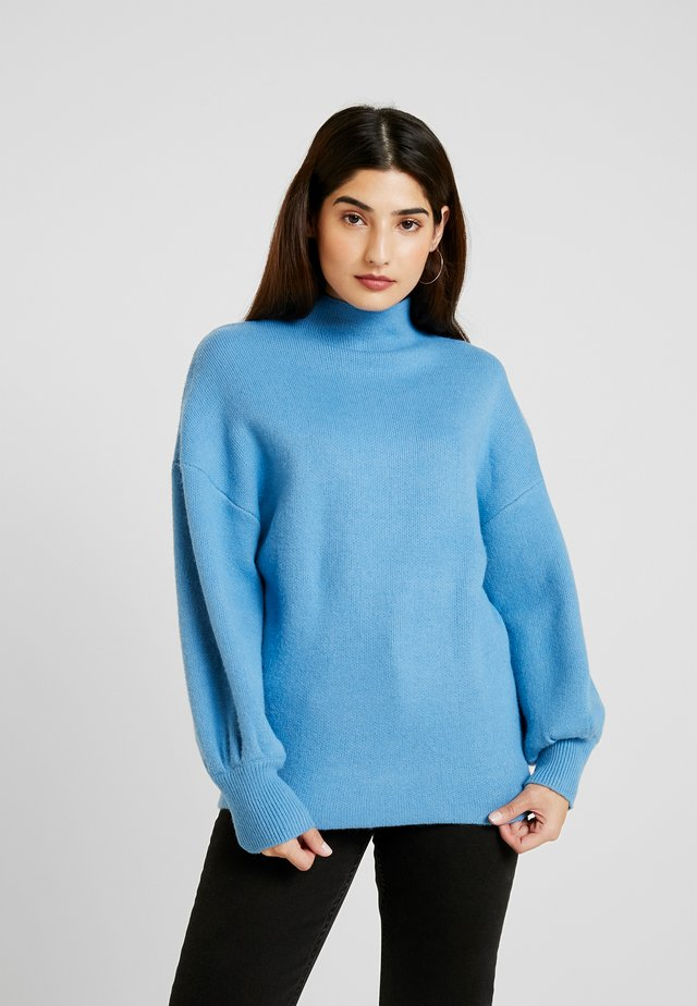 EXAGERATED BALLOON SLEEVE JUMPER - Pullover - blue