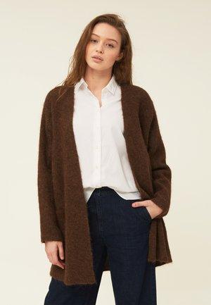 JOLENE - Cardigan - brown melange