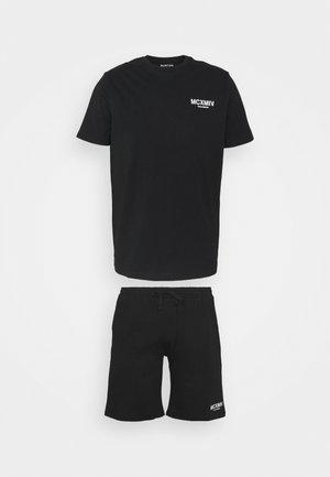 GRAPHIC TEE SHORT SET - Pyžamo - black