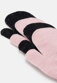 Name it - NMFMAGIC MITTENS 2 PACK - Gloves - black/coral blush - 2