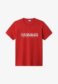 Napapijri - SALLAR - Print T-shirt - old red - 3