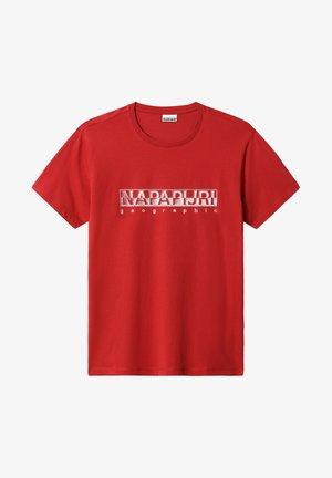SALLAR - Print T-shirt - old red