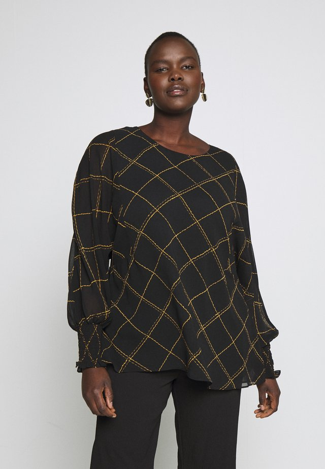 TOP SCRATCH CHECK - Blouse - black