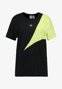 COLOUR BLOCKING DESIGN BOYFRIEND TEE - Triko s potiskem - black
